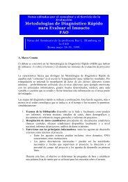 Metodologías de Diagnóstico Rápido para Evaluar el Impacto FAO