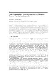 1 Using Computational Steering to Explore the Parameter Space of ...