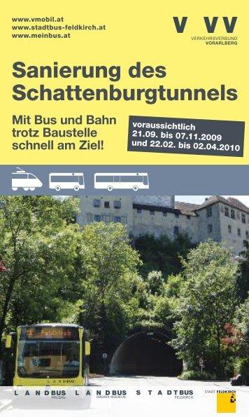 Sanierung des Schattenburgtunnels