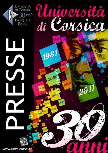 30 anni - Università di Corsica Pasquale Paoli