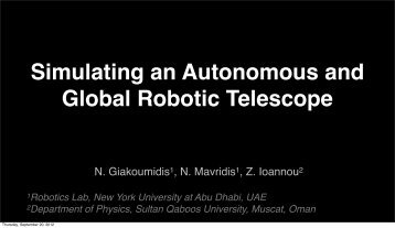 Simulating a Global Robotic Telescope Network - Belissima