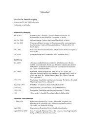 Lebenslauf - Centre Marc Bloch - Humboldt-Universität zu Berlin
