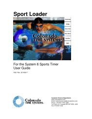 Sport Loader - Colorado Time Systems