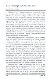 """E. E. Cummings and """"The New Art"""" - Gvsu"""