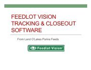 FEEDLOT VISION TRACKING & CLOSEOUT SOFTWARE - Beeflinks