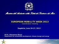 Presentation Italian Coordination - European Mobility Week