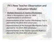 New Teacher Evaluation Power Point Presentation - Haverford ...