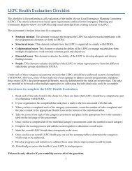 LEPC Health Evaluation Checklist
