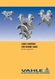 I-Beam Cable Carriers for Round Cable - VAHLE, Inc