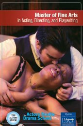 Master of Fine Arts in Acting, Directing, and ... - Pace University