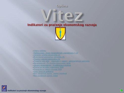 Indikatori za praćenje ekonomskog razvoja Općine Vitez (PDF) - REZ