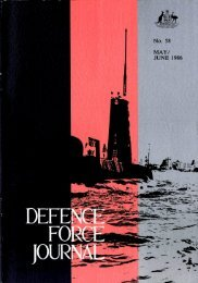ISSUE 58 : May/Jun - 1986 - Australian Defence Force Journal