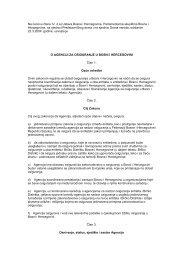 Zakon o agenciji za osiguranje u BiH - Bosna RE