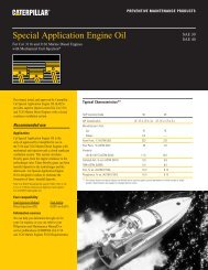 Special Application Engine Oil - Toromont CAT