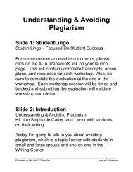 Understanding & Avoiding Plagiarism - Innovative Educators