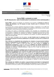 plan d'action pour le commerce et les commerçants - Ministère de l ...
