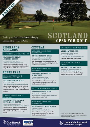 Download your offer booklet here - The Home of Golf - VisitScotland