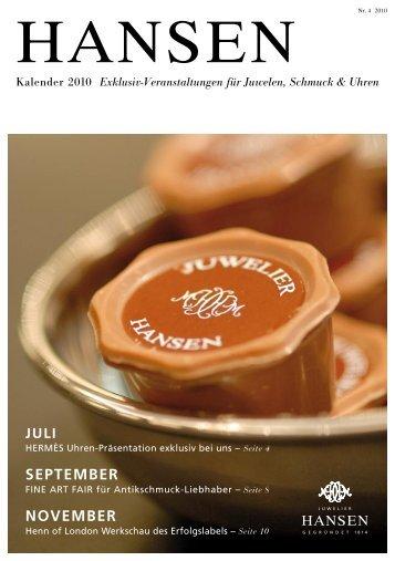 HaNseN - Juwelier Hansen Hamburg gegründet 1814