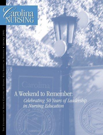 Carolina Nursing, Spring 2001 - School of Nursing - University of ...