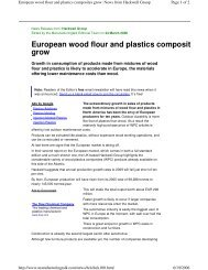 European wood flour and plastics composites grow - ICPE