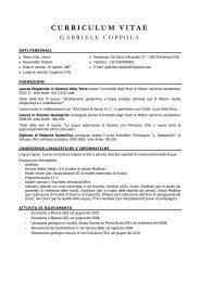CV Gabriele Coppola - Ordine dei Geologi della Lombardia