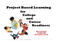 Project-Based Learning for College & Career ... - RGV LEAD
