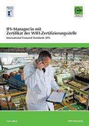 Ifs-Manager/in mit Zertifikat der Wifi-Zertifizierungsstelle