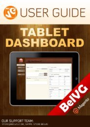 Tablet Dashboard User Guide - BelVG Magento Extensions Store