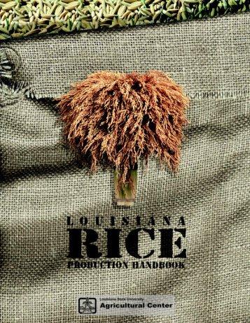 Louisiana Rice Production Handbook - Texas A&M AgriLIFE ...