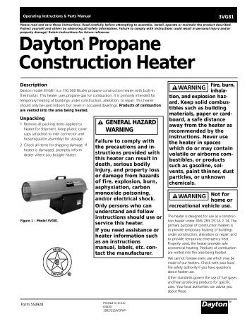 Propane Construction Heater Desa