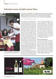 Schweizer essen vermehrt ausser Haus - Pauli Cuisine