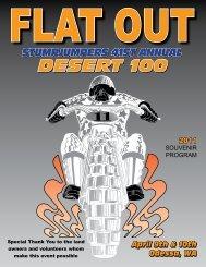 2011 Desert 100 Program - Stumpjumpers Motorcycle Club