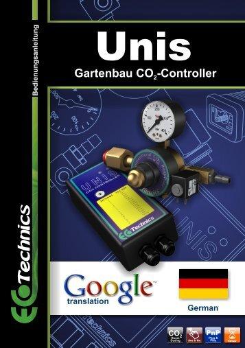 Gartenbau CO -Controller - Ecotechnics.co.uk