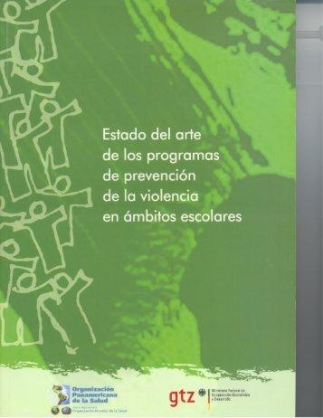 Estado del arte de los programas de prevención - PAHO/WHO