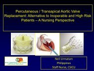 Percutaneous/Transapical Aortic Valve Replacement ... - RM Solutions