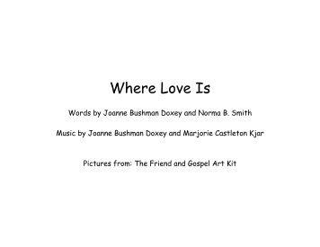 Where Love Is - JollyJenn.com