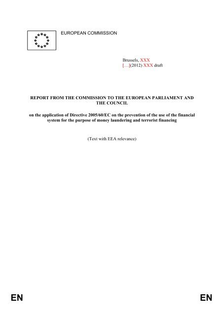 report on the application of the Third Money Laundering Directive.