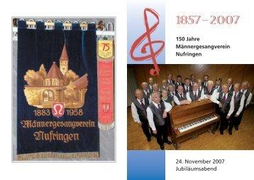 Umschlag vorne.indd - Gesangverein Nufringen eV