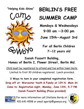 BERLIN'S FREE SUMMER CAMP - Worcester Youth and Family ...