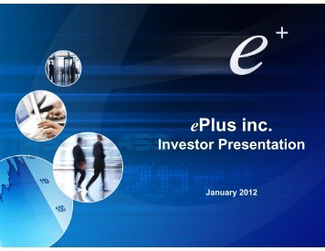 January, 2012 - ePlus