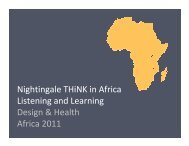 Nightingale Think: Listening and Learning in Africa - the ...