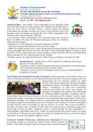 Informativo Semanal do dia 16 de Junho de 2013. - Diocese de ...