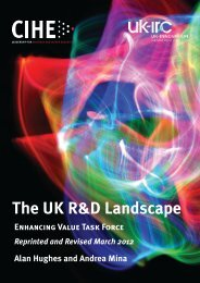 RnD landscape.indd - The Council For Industry and Higher Education