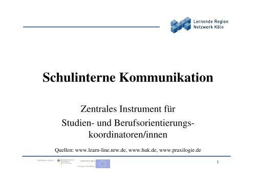 Schulinterne Kommunikation - Stiftung Partner für Schule NRW