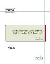 Who Ensures Clean, Consistent Data? - SAS