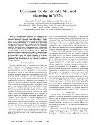 Consensus for Distributed EM-based Clustering in ... - COMONSENS