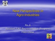 New Perspectives in Agro-Industries