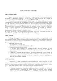 Statuto protezione civile - Comune di Tremestieri Etneo