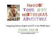Choose Your Own Historical Adventure- R. Cairns - HTAV
