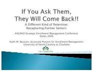 If You Ask Them, They Will Come Back: Recruiting ... - AACRAO